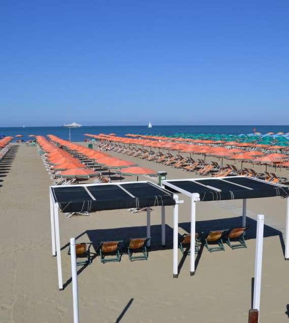 Spiaggia Bagno Italia Viareggio in Viale Regina Margherita